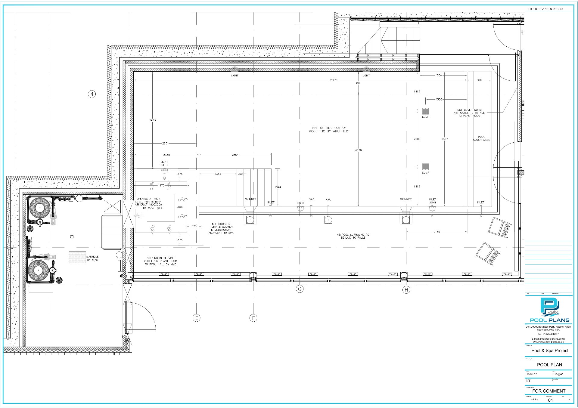 Examples pool plans for Pool design drawings